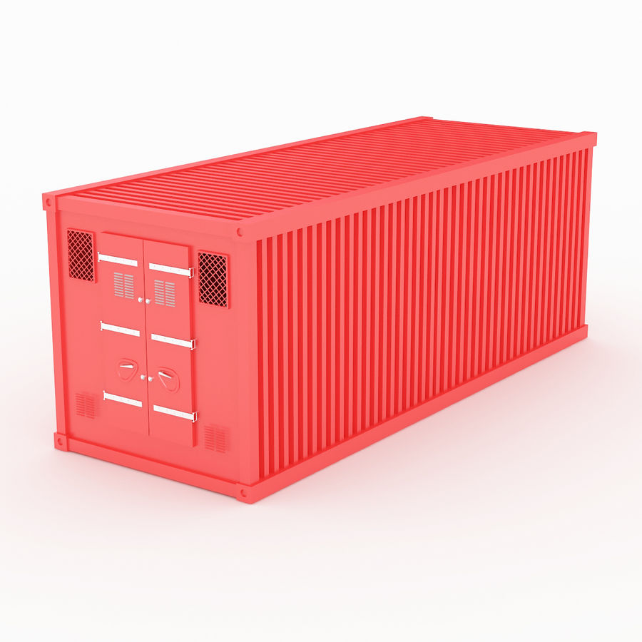 Shiping Container 2 royalty-free 3d model - Preview no. 2