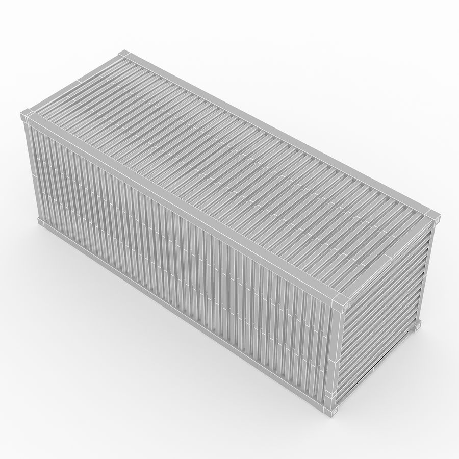 Shiping Container 2 royalty-free 3d model - Preview no. 7