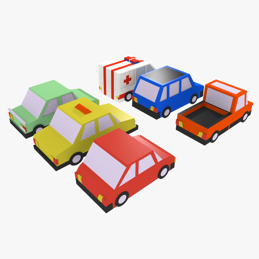Cartoon cars royalty-free 3d model - Preview no. 4