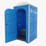 Przenośna toaleta (otwarte drzwi) 3d model