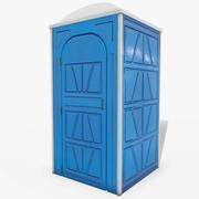 Przenośna toaleta (zamknięte drzwi) 3d model