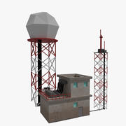 Radar Doppler do aeroporto 3d model
