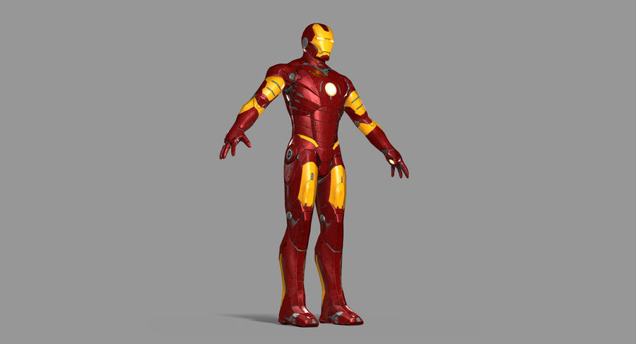 Iron Man royalty-free 3d model - Preview no. 15