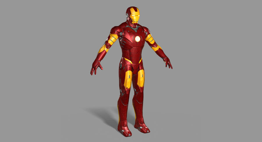Iron Man royalty-free 3d model - Preview no. 3
