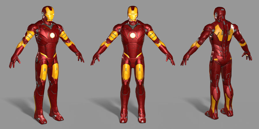 Iron Man royalty-free 3d model - Preview no. 24