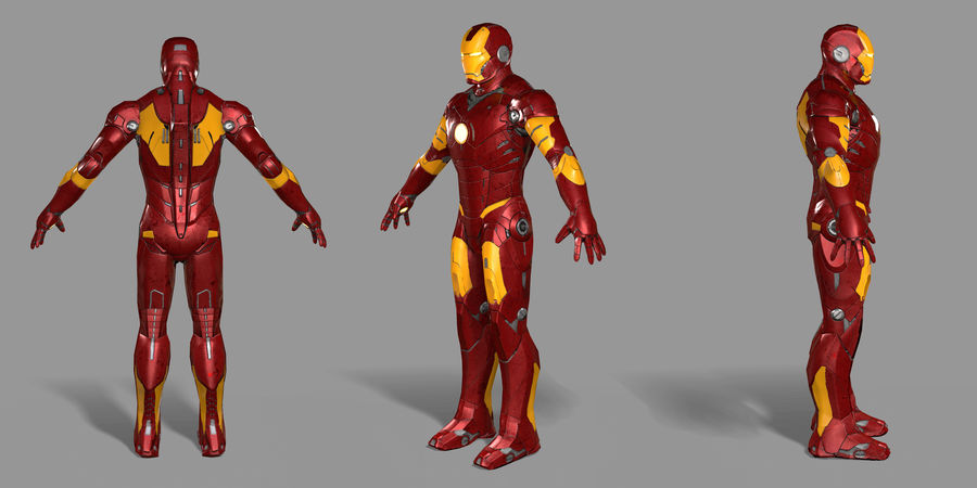 Iron Man royalty-free 3d model - Preview no. 25