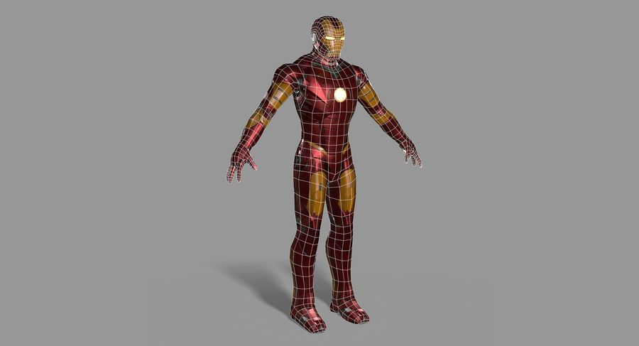 Iron Man royalty-free 3d model - Preview no. 20