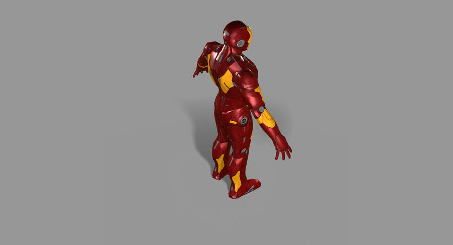 Iron Man royalty-free 3d model - Preview no. 13