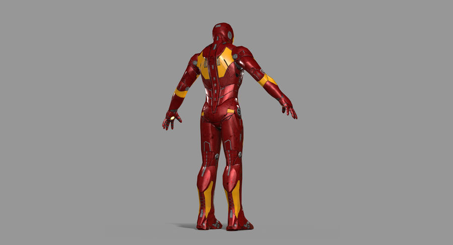 Iron Man royalty-free 3d model - Preview no. 16