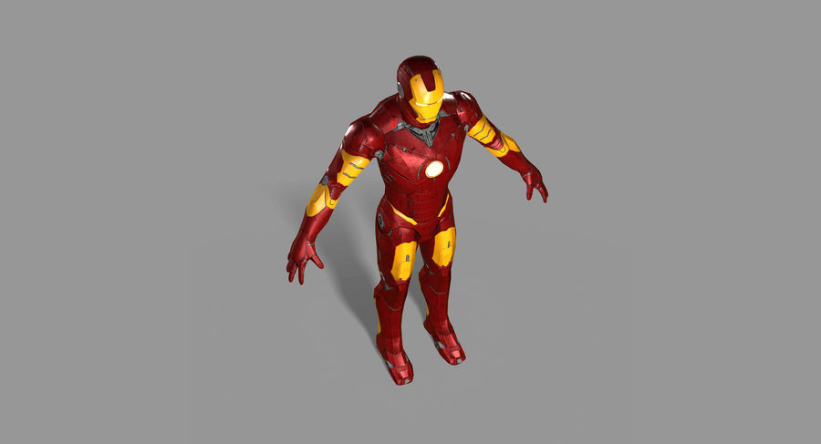Iron Man royalty-free 3d model - Preview no. 12