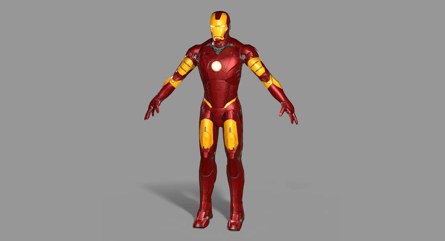 Iron Man royalty-free 3d model - Preview no. 10