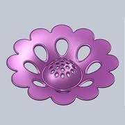 塑胶花部 3d model