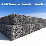 Gabion RailClone 3D-model 3d model