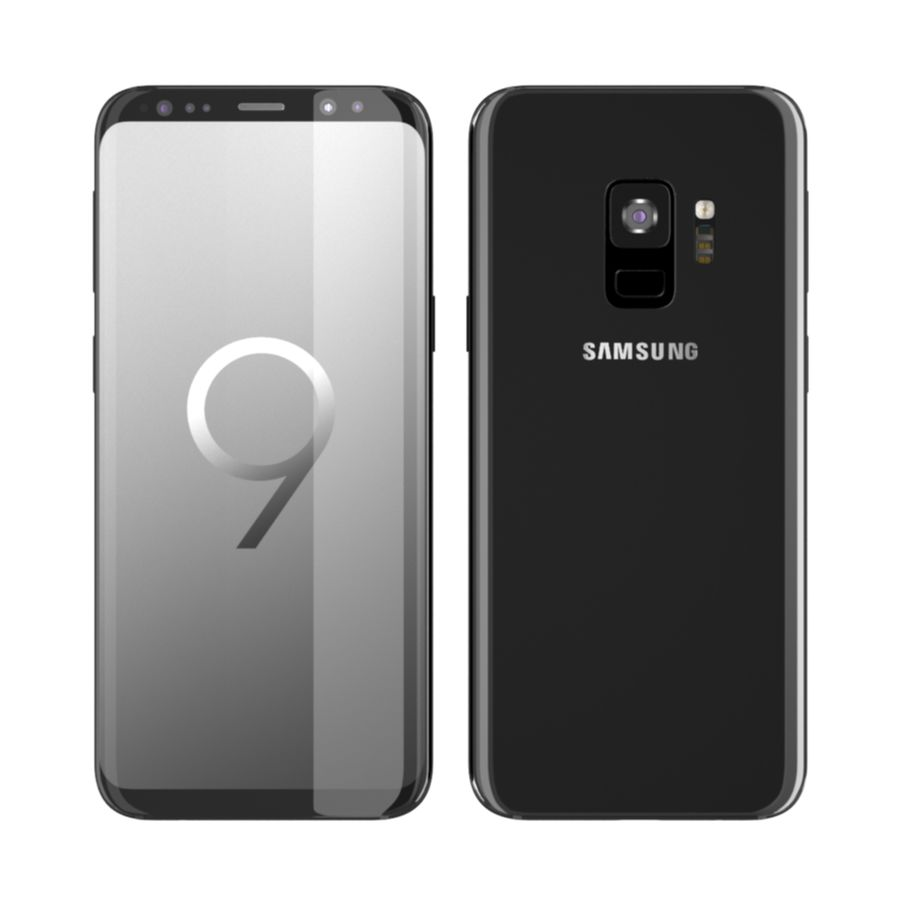 Samsung Galaxy S9 royalty-free 3d model - Preview no. 1