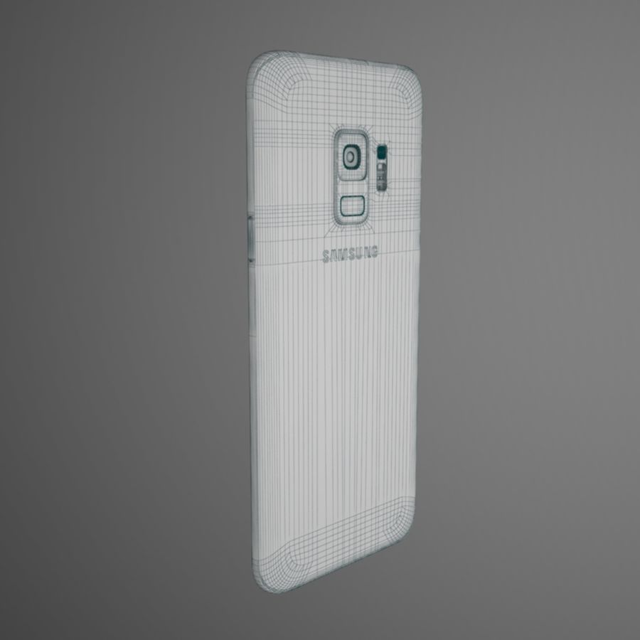 Samsung Galaxy S9 royalty-free 3d model - Preview no. 11