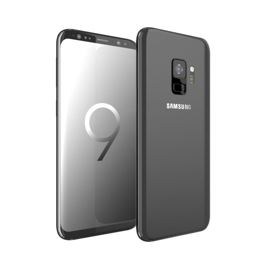 Samsung Galaxy S9 royalty-free 3d model - Preview no. 2