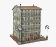 Antiguo edificio pequeño modelo 3d