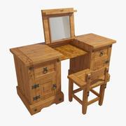 Ahşap Masif Tuvalet Masası 3d model
