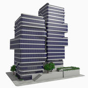 Modern Office City Building Block 1 - Futuristic Architecture 3d model