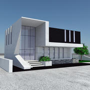 Modern Beach House Design - Futuristic Home Architecture 1 3d model