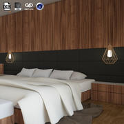 Interior Modern Bedroom design scene 3d model