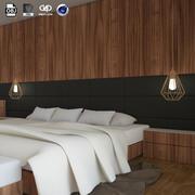 Interior Modern Bedroom design scene 3d model