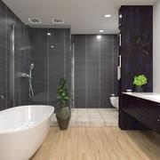 现代浴室场景 3d model