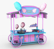 Cartoon Candy Candy Wagon 3d model