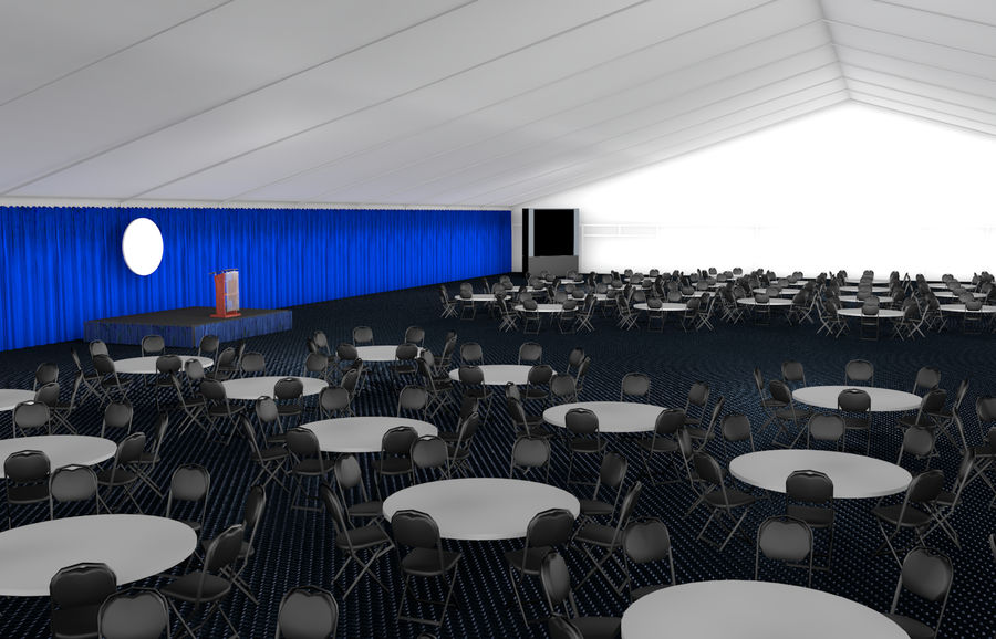 tent event royalty-free 3d model - Preview no. 1