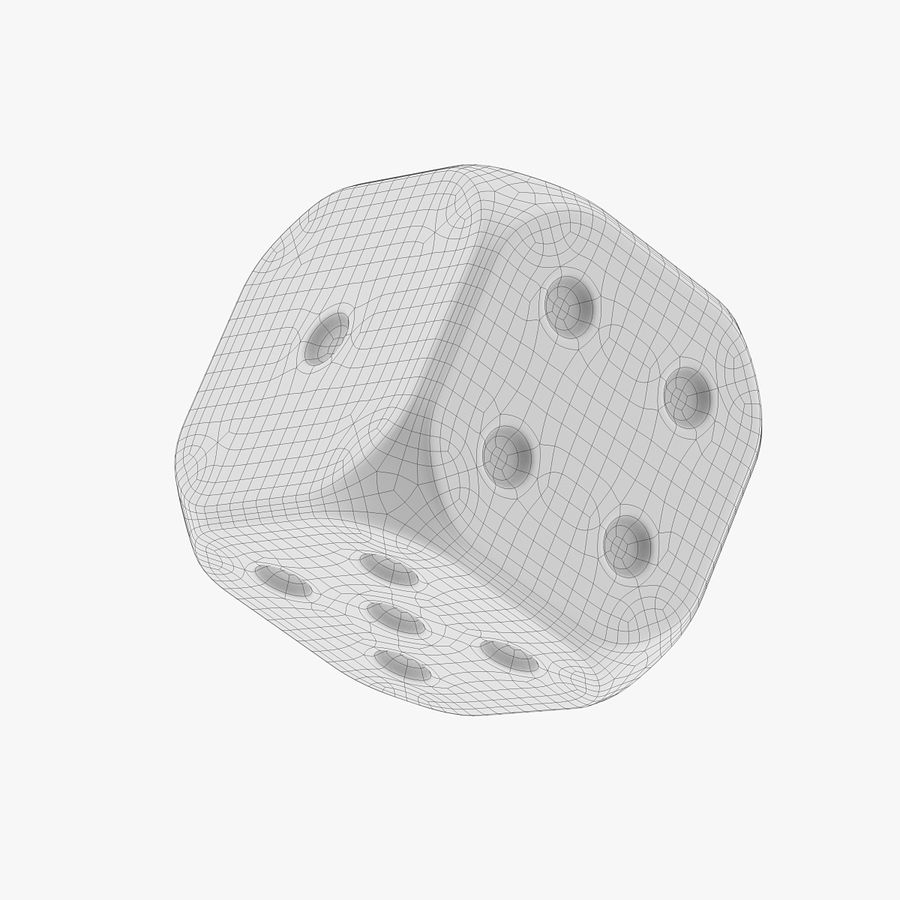 Dice royalty-free 3d model - Preview no. 6