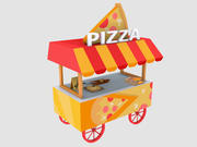Stylized Pizza Cart 3d model