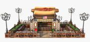 热狗快餐。动画片 3d model