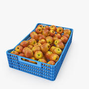 Apple Plastic Crate 3d model
