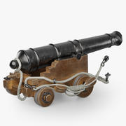 Cannon Pirate Ship 3d model