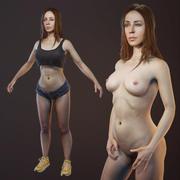 优化的3DScan Girl 3d model
