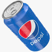 Pepsi Can Water Droplets 3d model