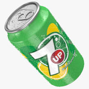 7up Wet Can 3d model