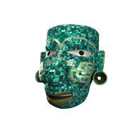 Masque de mosaïque guerrier aztèque 3d model