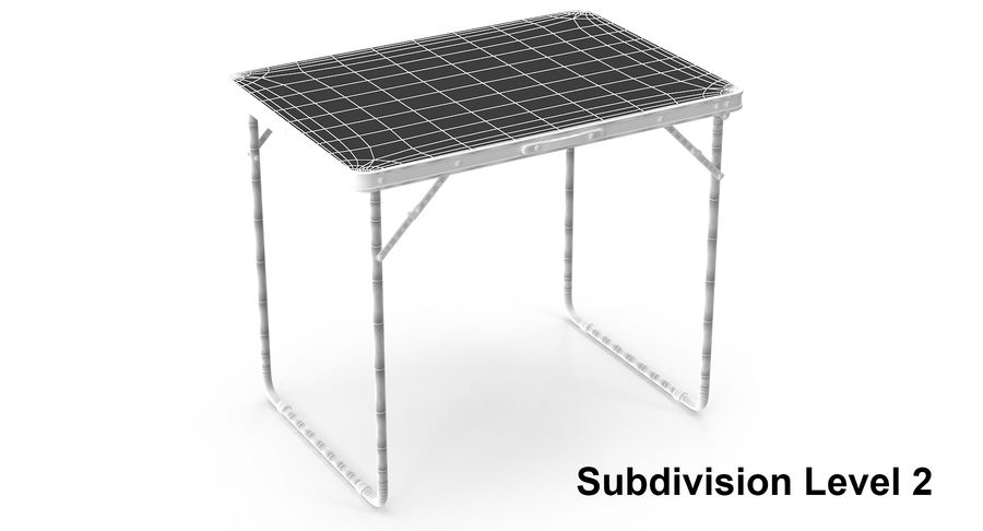 Folding Table royalty-free 3d model - Preview no. 10
