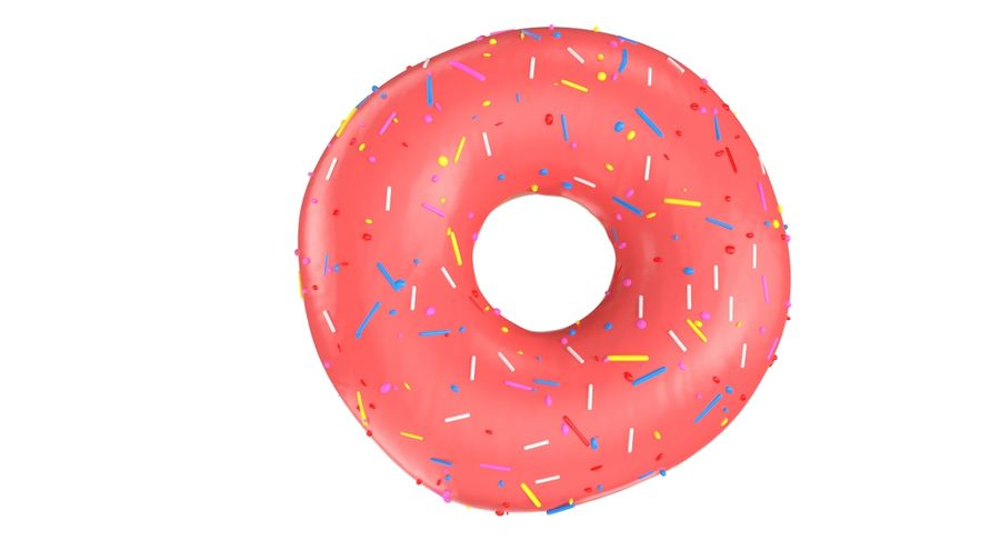 Donut Pink royalty-free 3d model - Preview no. 4