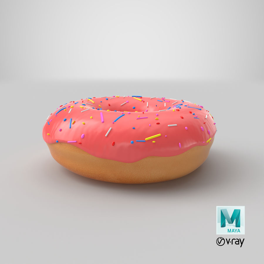 Donut Pink royalty-free 3d model - Preview no. 13