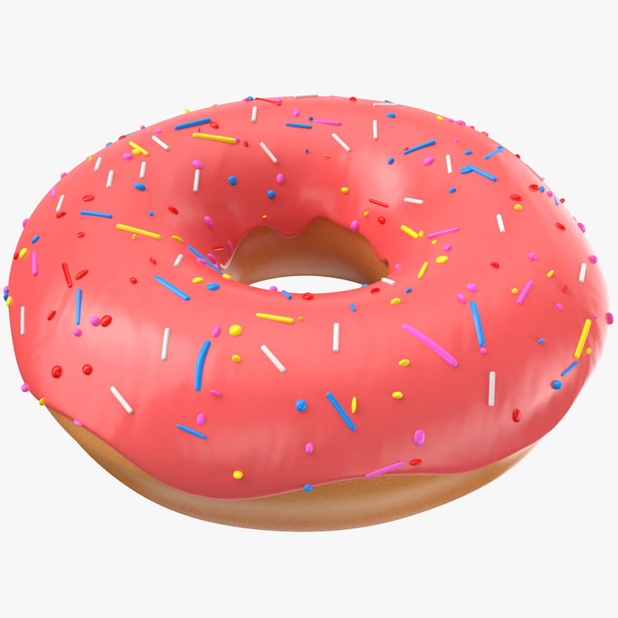 Donut Pink royalty-free 3d model - Preview no. 1