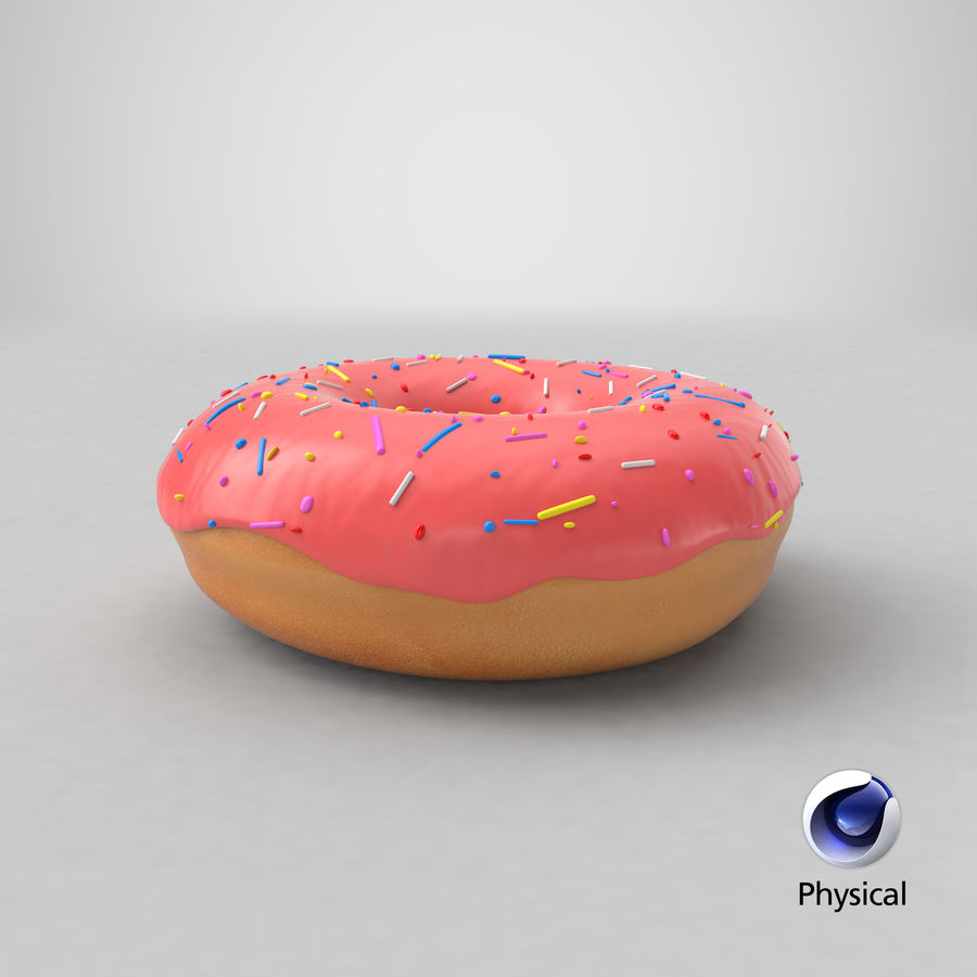 Donut Pink royalty-free 3d model - Preview no. 17