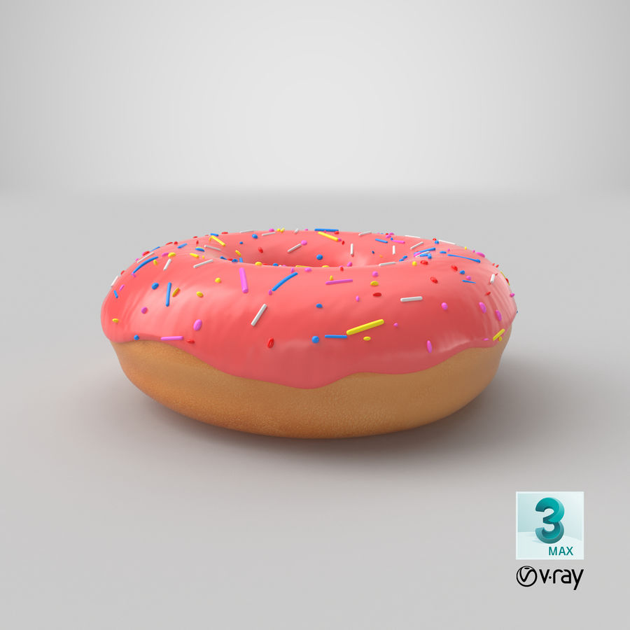 Donut Pink royalty-free 3d model - Preview no. 15