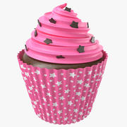 Cupcake With Stars 3d model