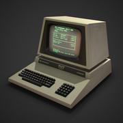 Ordinateur de bureau jeu rétro prêt 3d model