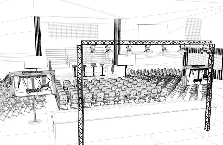 гимнастический зал royalty-free 3d model - Preview no. 4