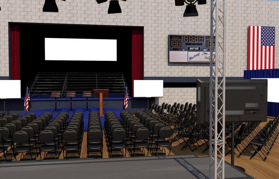 гимнастический зал royalty-free 3d model - Preview no. 1