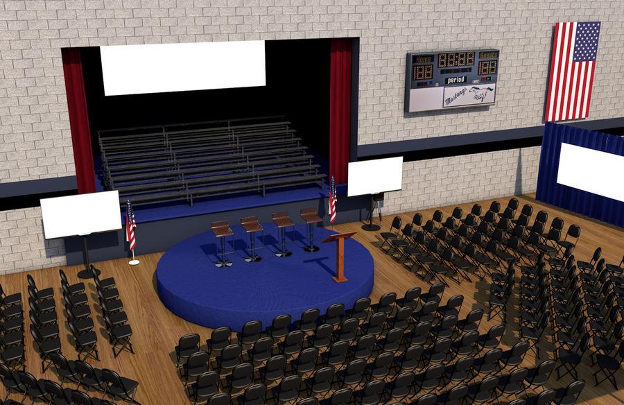 гимнастический зал royalty-free 3d model - Preview no. 2