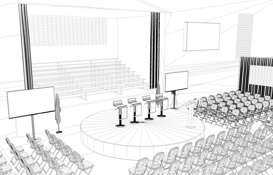 гимнастический зал royalty-free 3d model - Preview no. 5